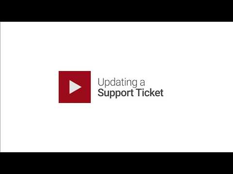 Updating a Support Ticket