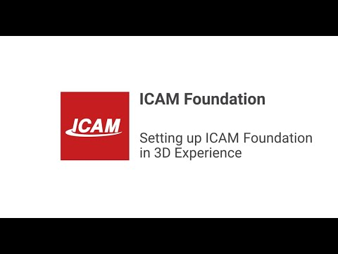 Setting up ICAM Foundation in 3D Experience