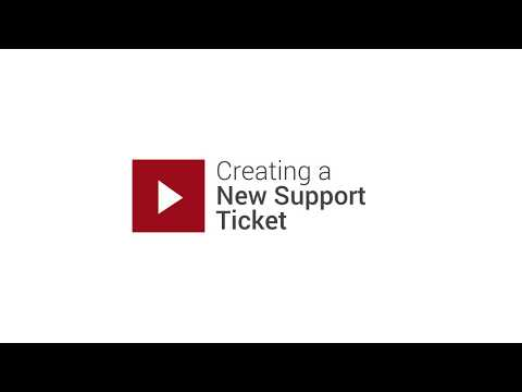 Creating a Support Ticket