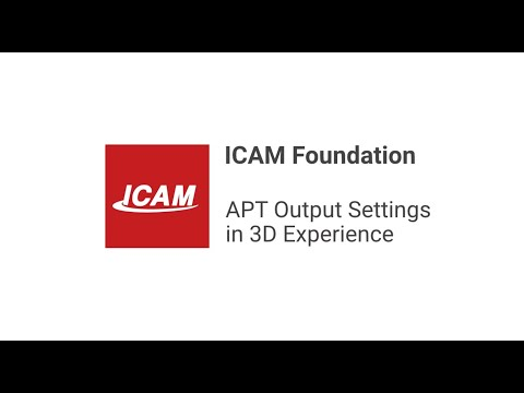 APT Output Settings in 3D Experience