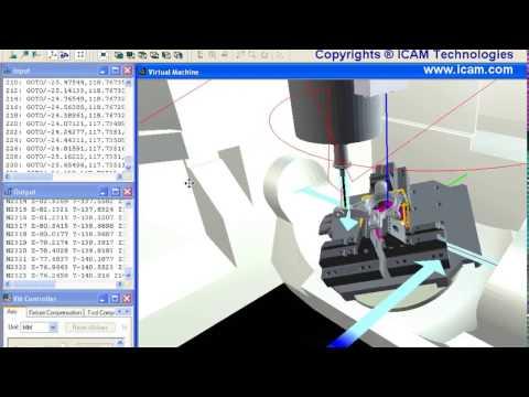 MAZAK Variaxis 730 Post-Processor & Simulator   ICAM
