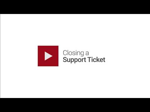 Closing a Support Ticket