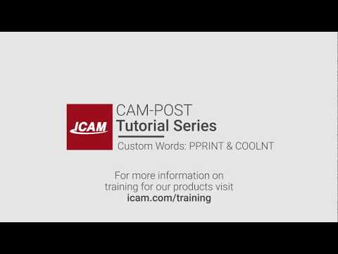 ICAM Minute - Custom Words: PPRINT & COOLNT