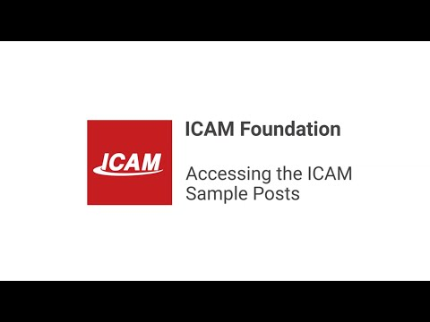 Accessing the ICAM Sample Files