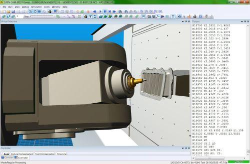 ICAM's integrated post-processing and machine simulation software