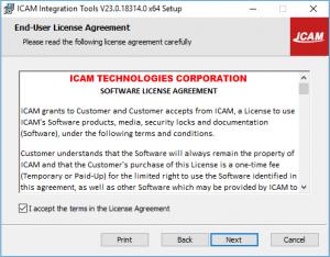 icam integration tools set up