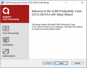 icam productivity tools set up