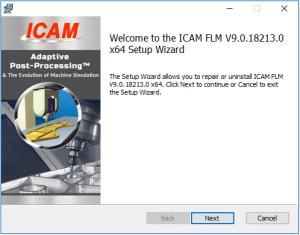 icam license install set up