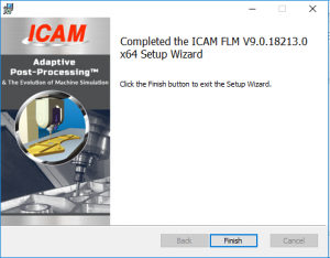 icam license install finish