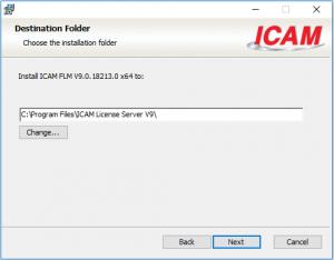 icam license install folder destination