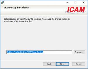 icam license key install