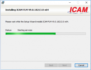 icam license install loading
